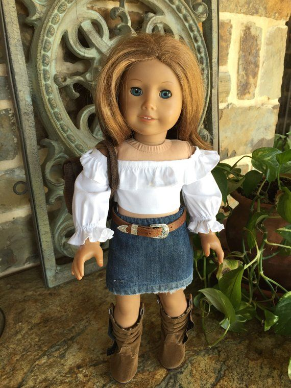 18 in doll clothes designed to fit the American girl doll - denim jeans- distress skirt-denim skirt #18inchdollsandclothes