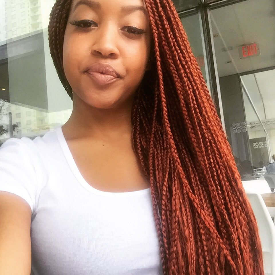 Texas Tlee Box Braids Natural Red Color Boxbraids