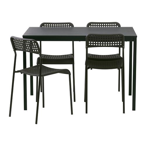 IKEA - TÄRENDÖ / ADDE, Tafel en 4 stoelen, Het tafelblad van melamine is vocht- en krasbestendig, en is makkelijk schoon te houden.