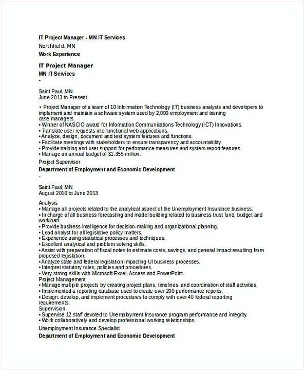 Senior It Project Manager Resume  It Operations Manager Resume