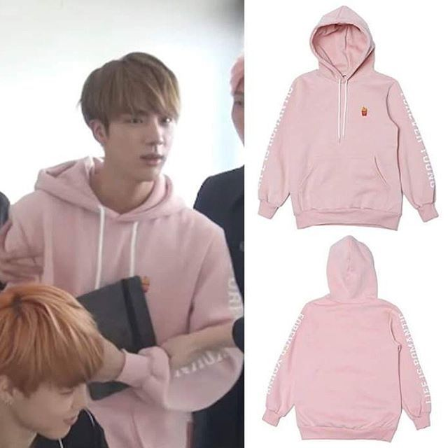 c8716218b frenchfries hoodie pink with Jin - BTS <span class=