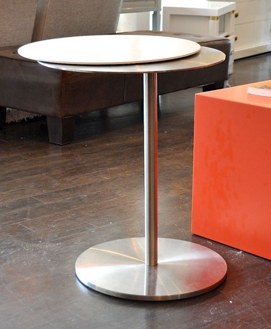 Delightful Dual Disk Swivel Side Table  A Cool And Funky Piece Of #retro Design!