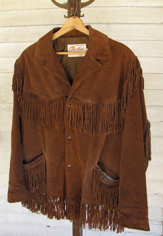Vintage 1960s/1970s Lace Front Suede Shirt w/Fringe Size Large 8UqpQEMPLa