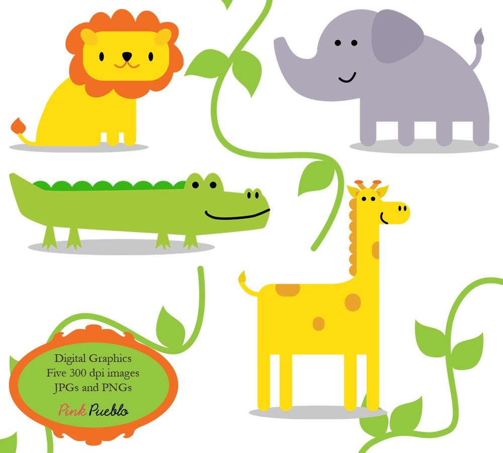 Jungle Animals Clip Art Clipart Zoo Safari Wild Animals Clip Art ...