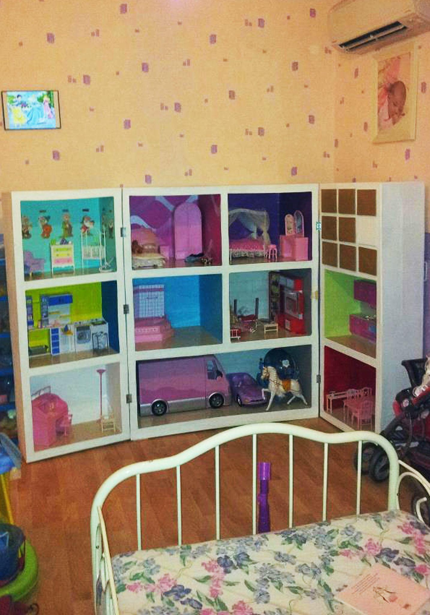 photo maison barbie finie 8 little house pinterest. Black Bedroom Furniture Sets. Home Design Ideas
