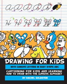 turn cursive letters into cartoons drawing book for kids - Children Drawing Books