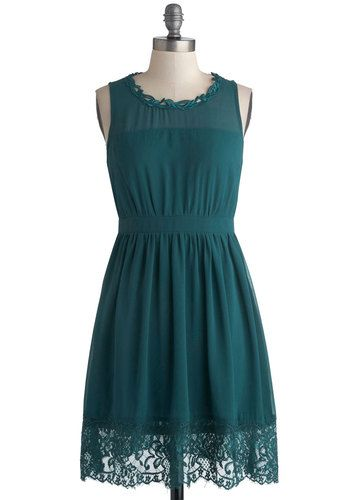 flaschengrünes kleid