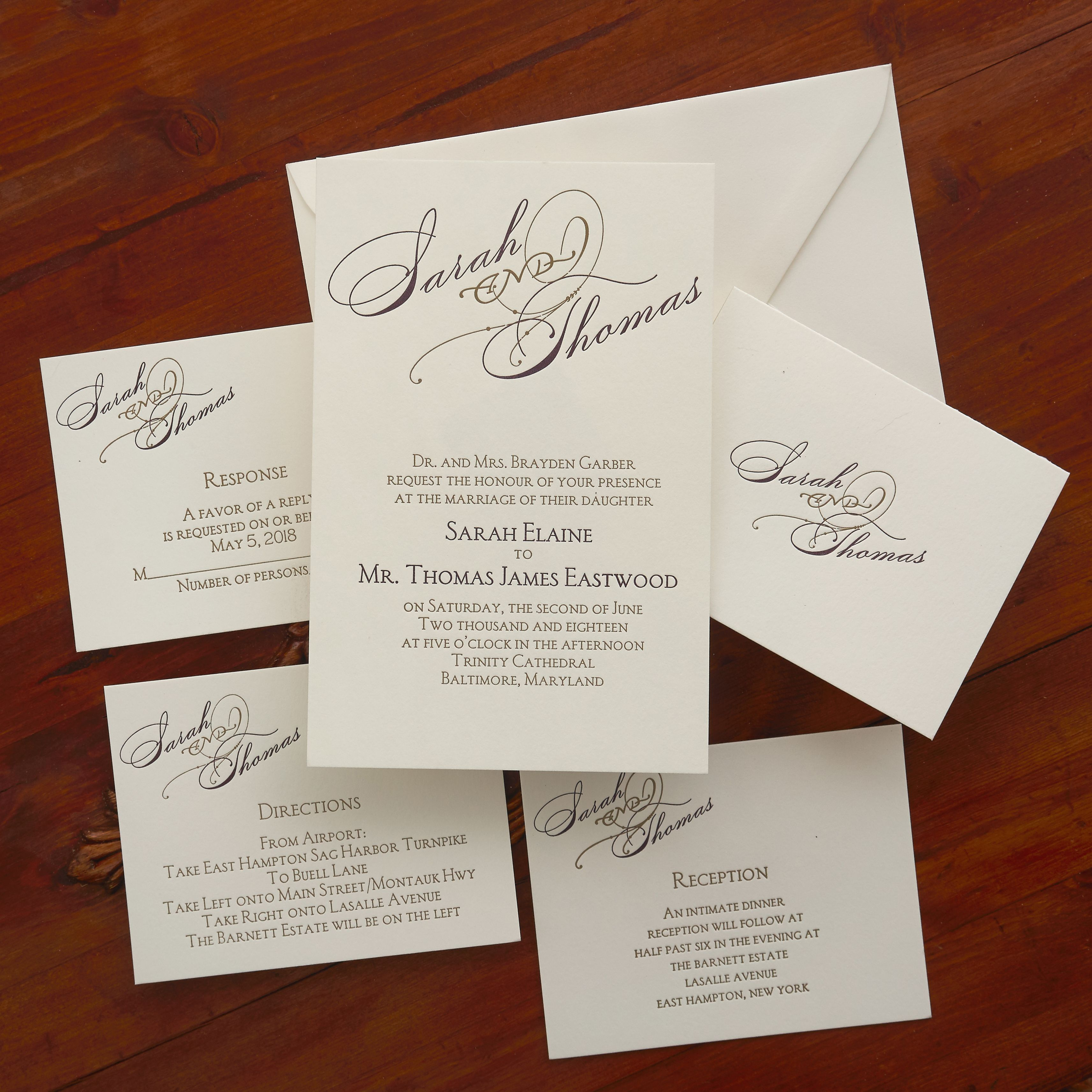 Gloriously Notable Invitations The American Wedding Http Www