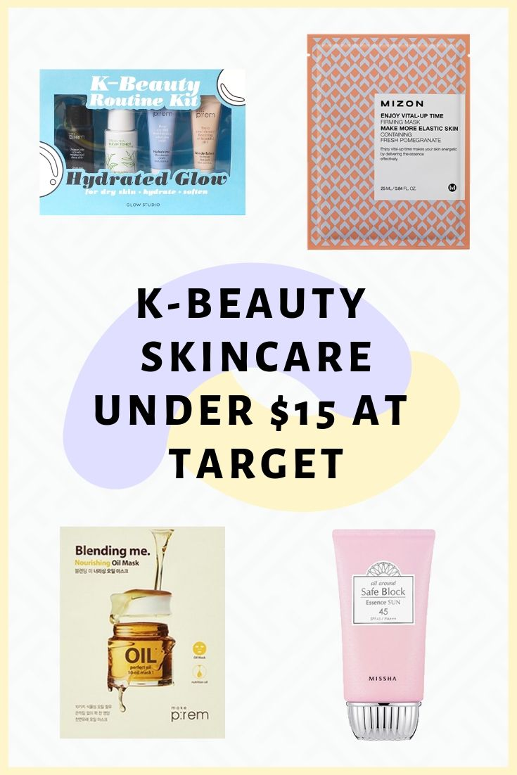 Affordable kbeauty skincare at target all under 15