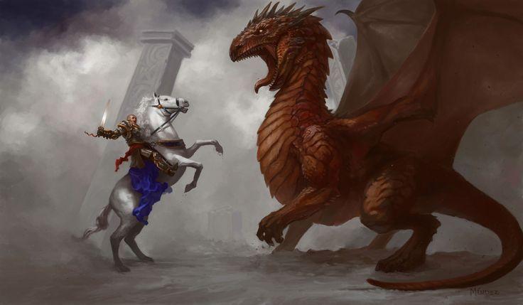 Schlacht Dragon Pferde Krieger Rüstung Tapete 406