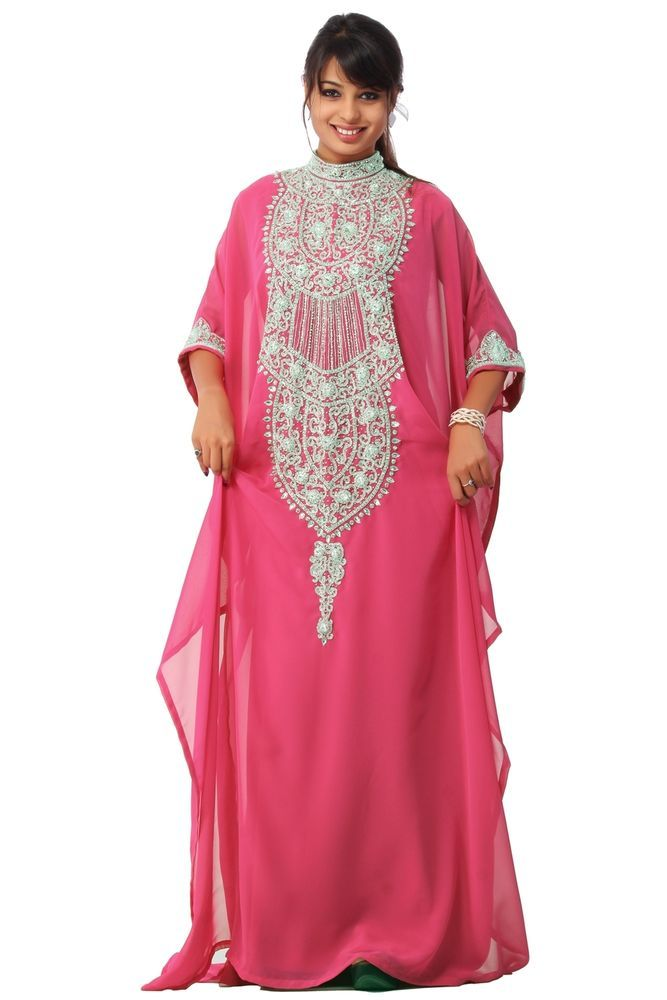 DUBAI VERY FANCY KAFTANS Abaya Jalabiya Ladies Maxi Dress Wedding Gown Hot In Clothing