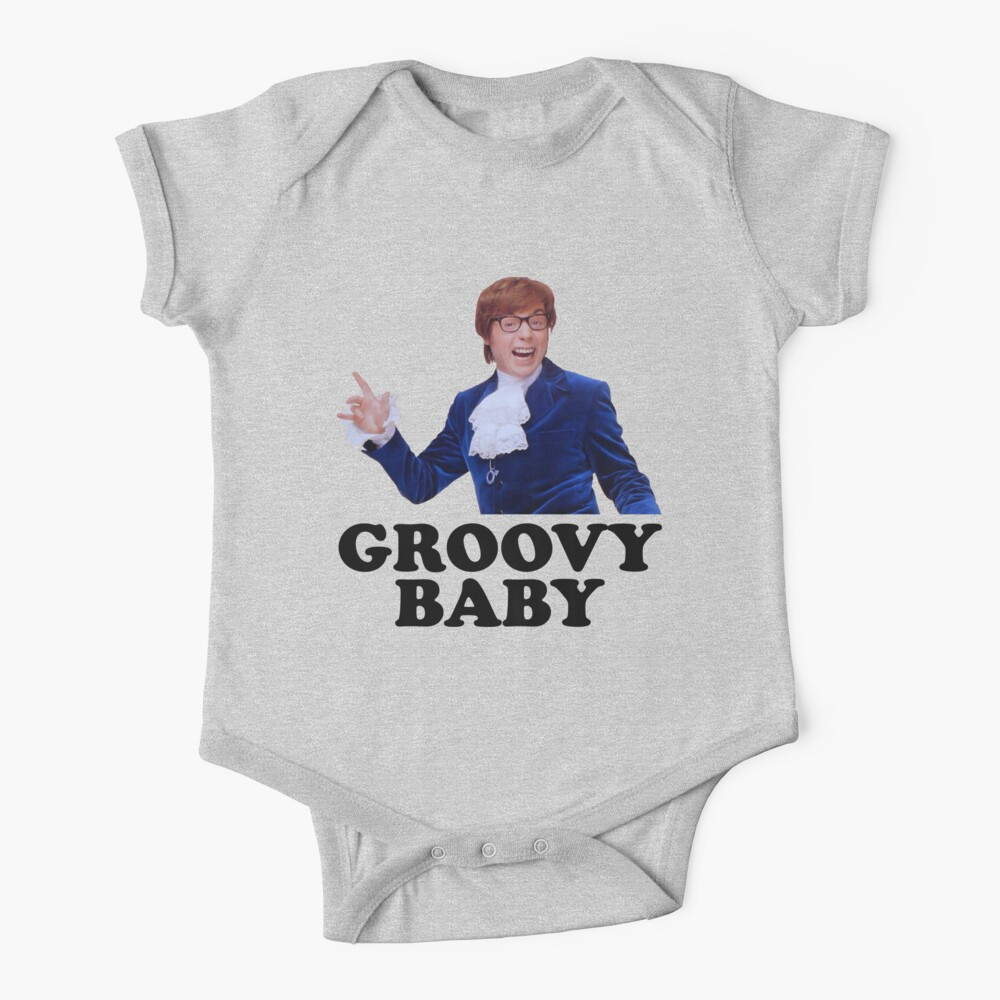Austin Powers Groovy Baby Baby One Piece By Red Rawlo Redbubble Baby Kids Clothes Groovy Baby