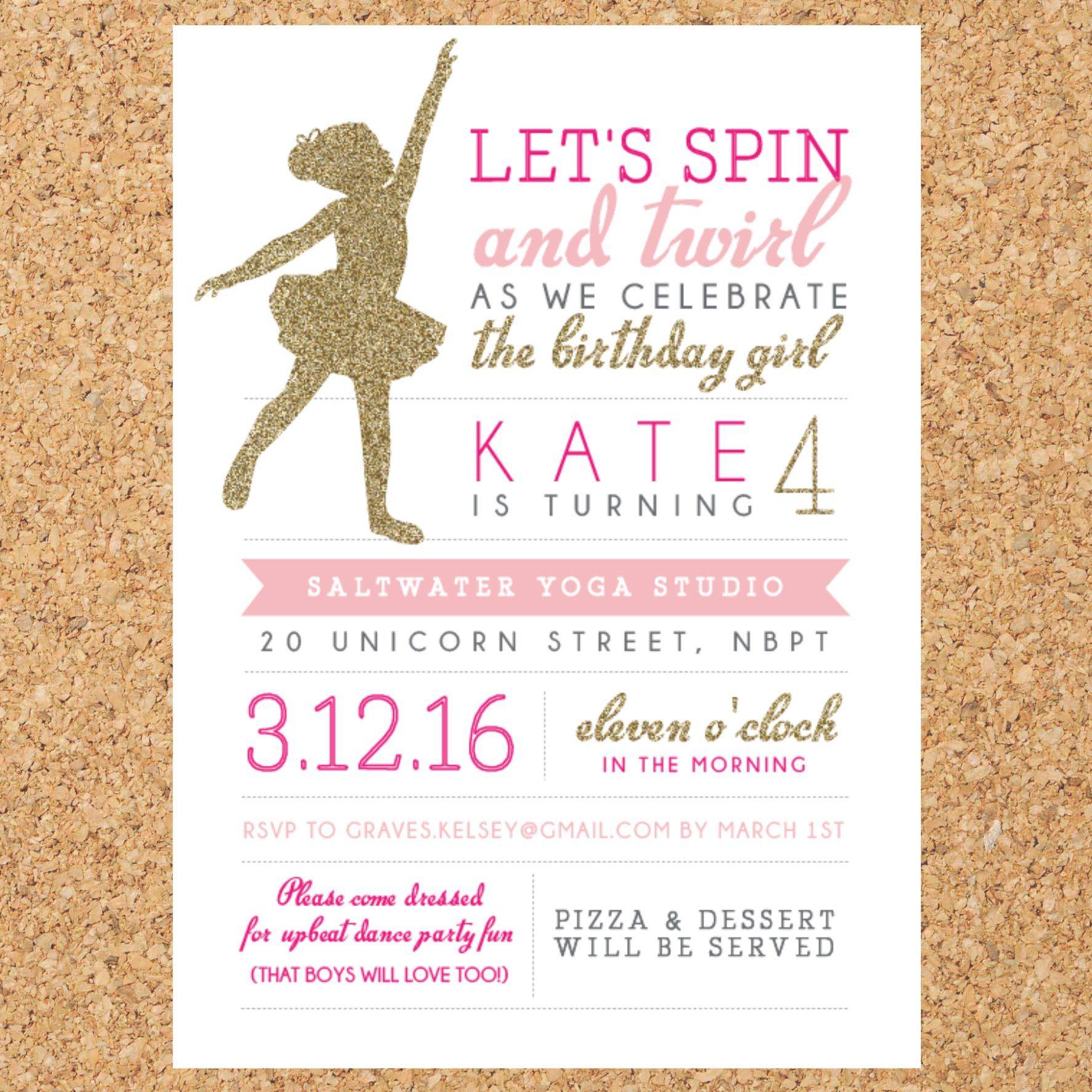 Luxury Dance Party Invitation Model Invitation Card