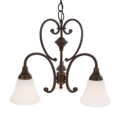 hampton bay somerset collection 3light bronze chandelier