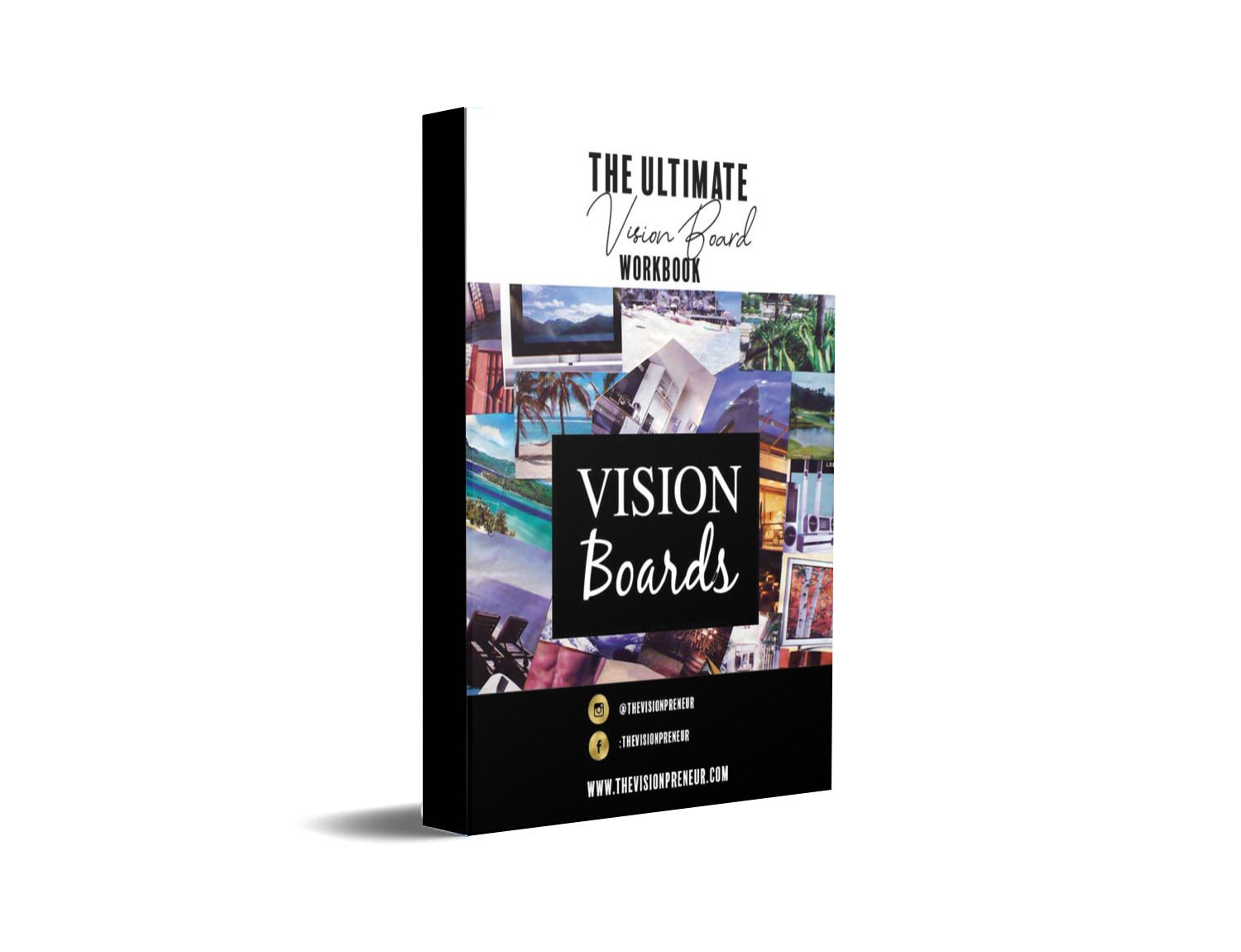 Vision Board Workbook Law Of Attraction Visualization