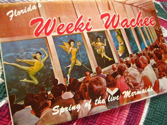 Vintage Weeki Wachee Florida Postcard Folder