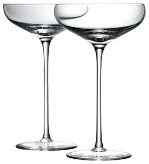 Wonderful LSA Bar Collection Champagne Saucers, Box Of 4   Contemporary   Barware    By John