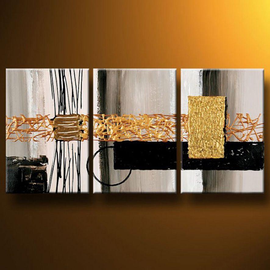 Cuadros abstractos modernos en acrilico texturados - Cuadros para salones minimalistas ...