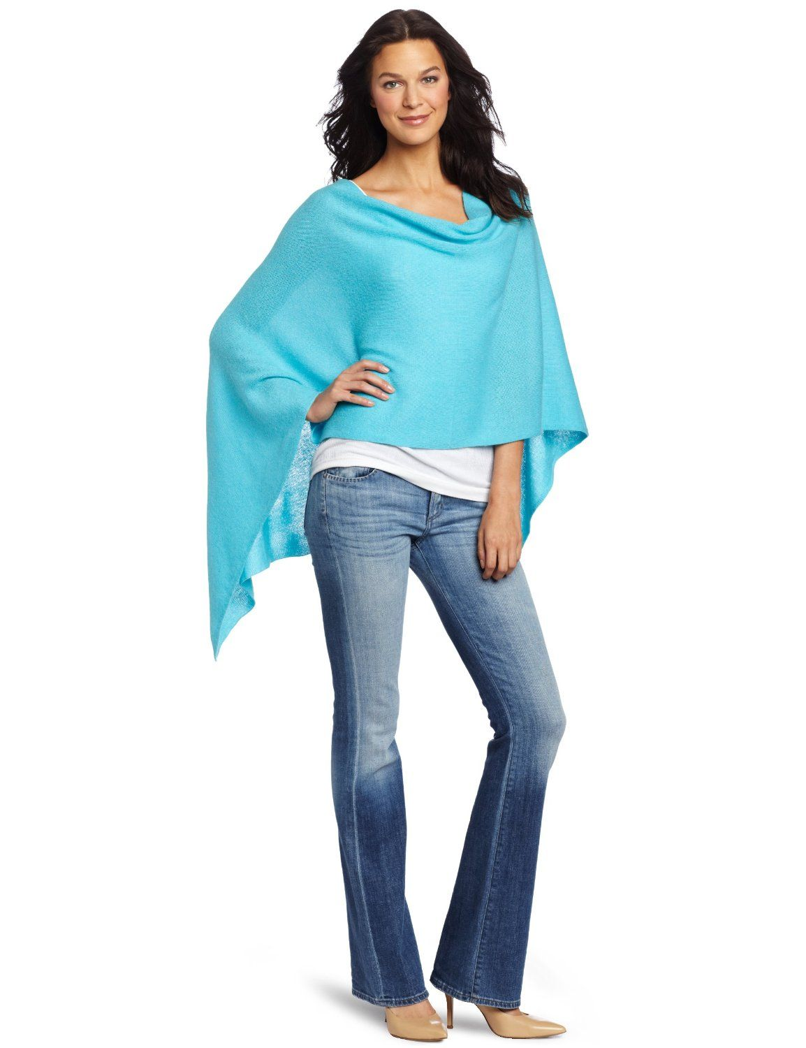 turquoise cashmere sweaters for 50% off by Minnie Rose - favored ...