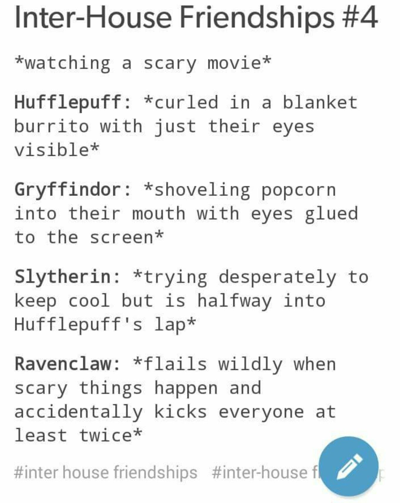 gryffindor and hufflepuff relationship