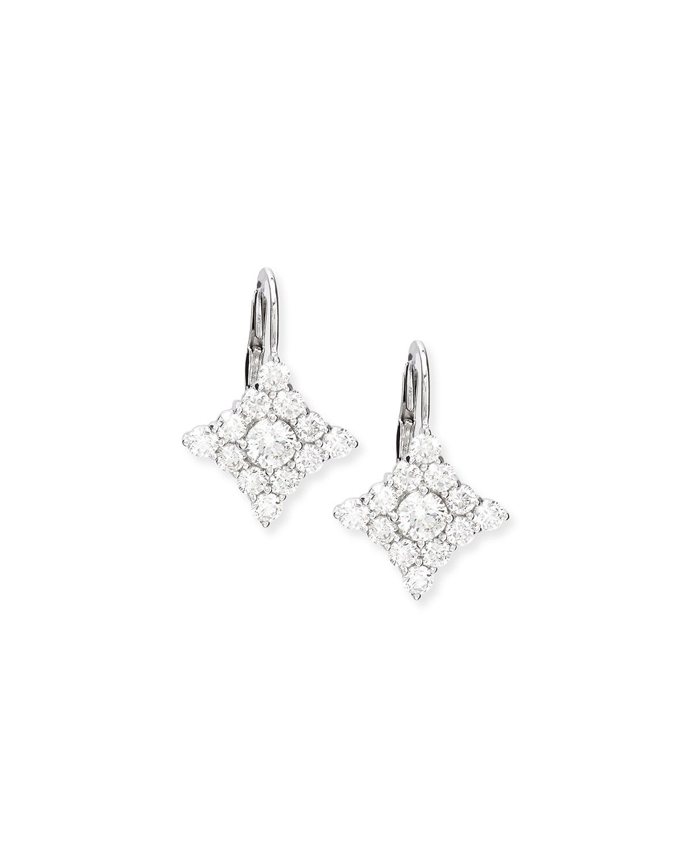 Nm Diamond Diamond Shape Cluster Drop Earrings
