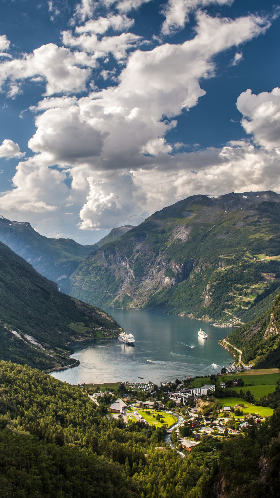 Earth Geirangerfjord Cloud Cruise Ship Fjord Geiranger Mountain Norway Scandinavia 1080x1920 Cool Wallpapers For Phones Live Wallpaper Iphone Norway Wallpaper