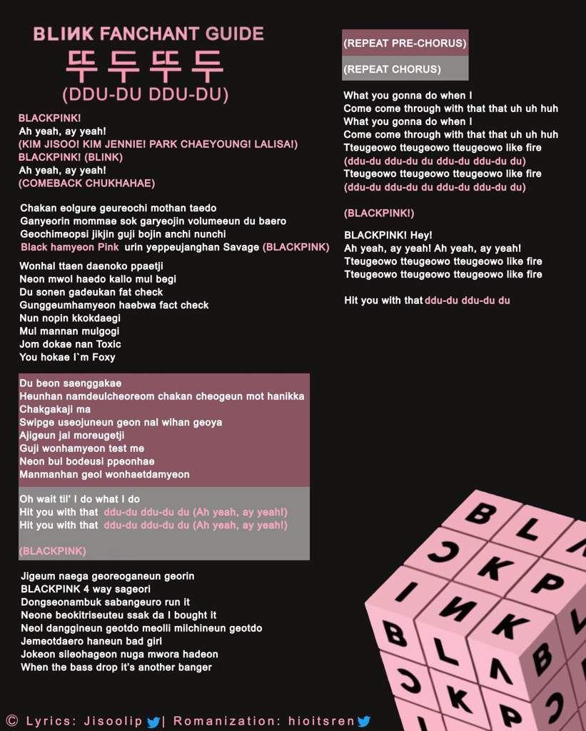 Blackpink Square Up Fanchants Blink 블링크 Amino Pink Song Lyrics Blackpink Square Up Pop Lyrics