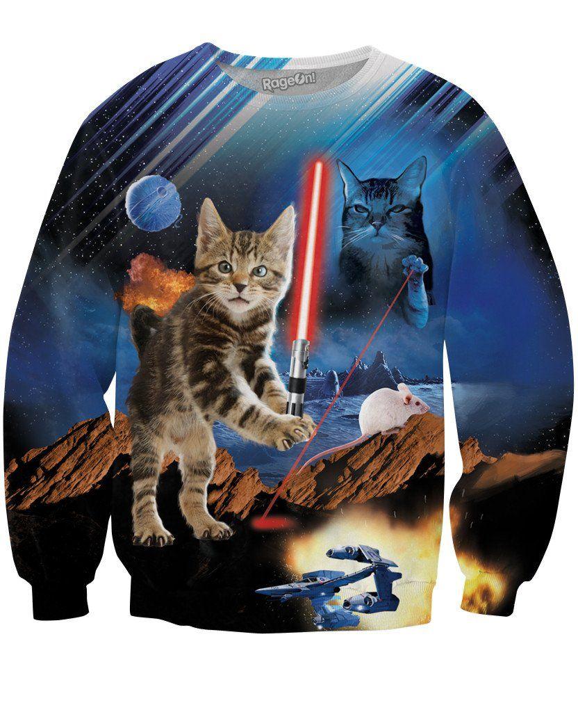 Return Of The Kitten Crewneck Sweatshirt Crew Neck Sweatshirt Tee Shirt Fashion Cat Summer [ 1024 x 832 Pixel ]
