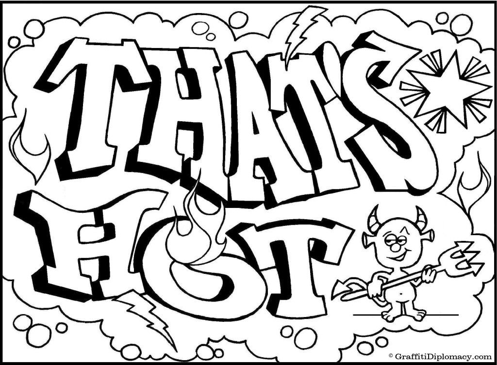 Graffiti Creatures Colouring Pages Coloring Pages For Teenagers