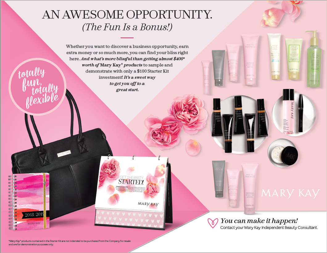 Mary Kay Starter Kit...it's time for you to buy a bag that