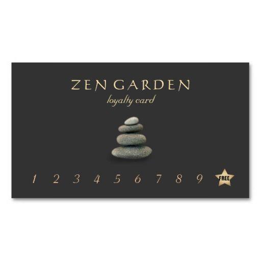 Zen Stones Massage Therapist Loyalty Punch Card Business Card - Business punch card template free