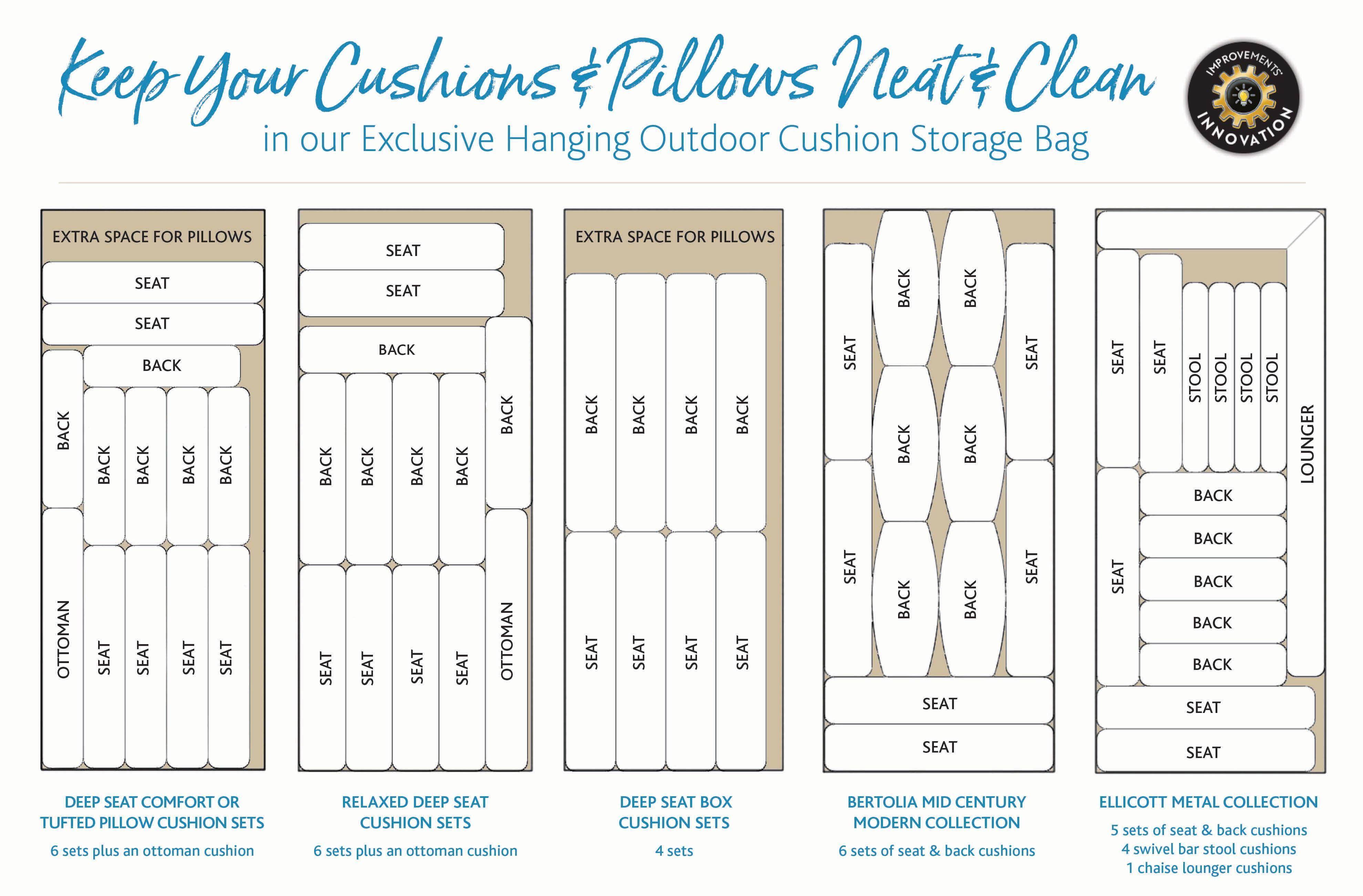 Hanging Outdoor Cushion Storage Bag Improvements Outdoor
