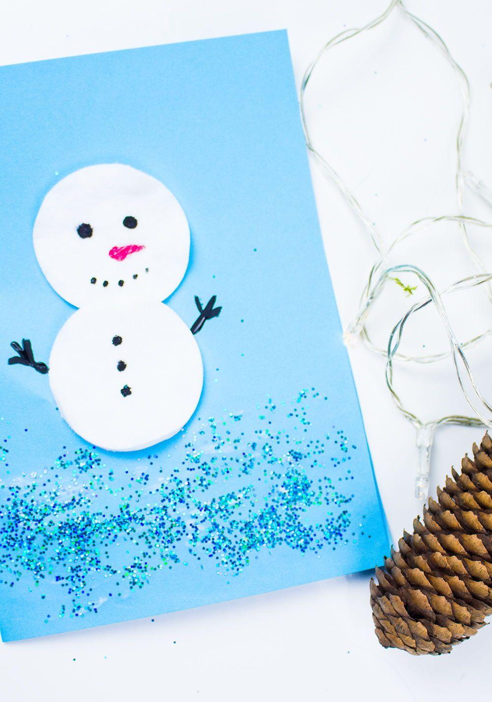 Weihnachtskarten Mit Duft.Weihnachtskarten Basteln Mit Kindern 5 Schnelle Ideen Video