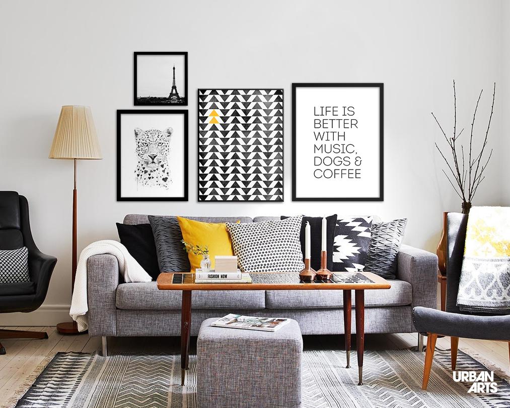 Quadros pequenos para sala de estar