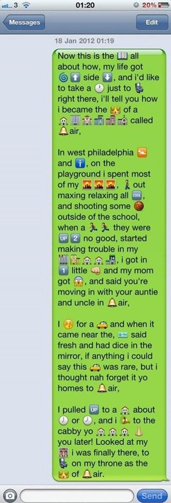Fresh Prince of Bel Air text Funny text messages, Funny