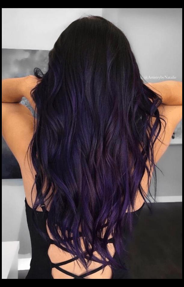 50 Dark Purple Hair Color Ideas Dark Purple Hair Darkpurplehair Do You Want Dark Purple Hair Color We H Hair Color For Black Hair Hair Styles Indigo Hair