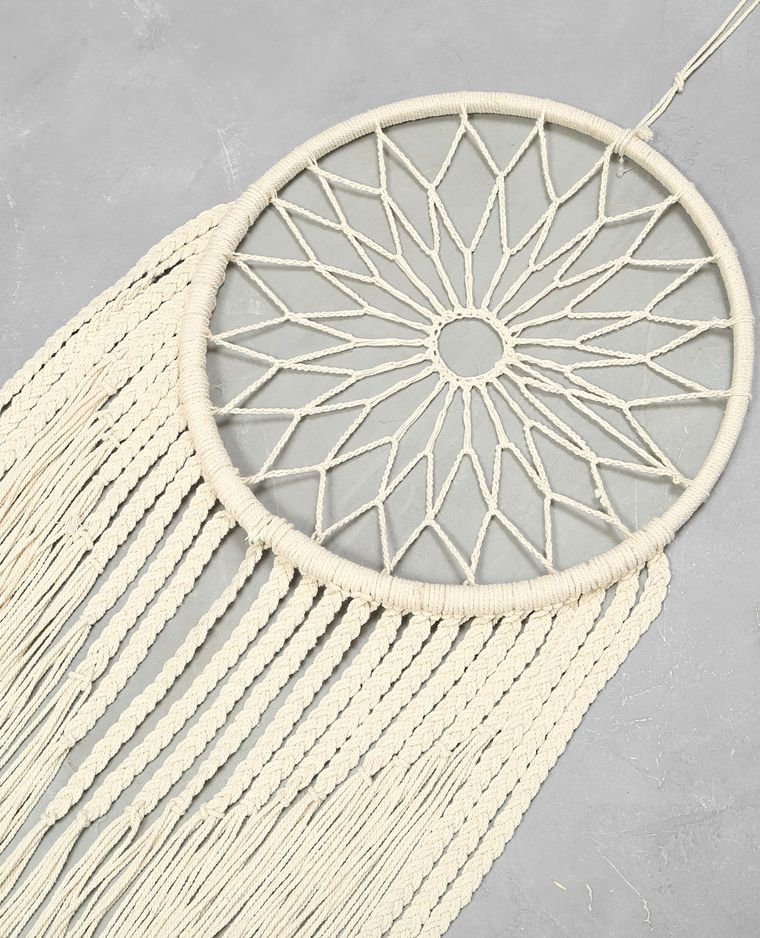 attrape r ves en macram blanc dreamcatcher pinterest dream catchers catcher and circular. Black Bedroom Furniture Sets. Home Design Ideas