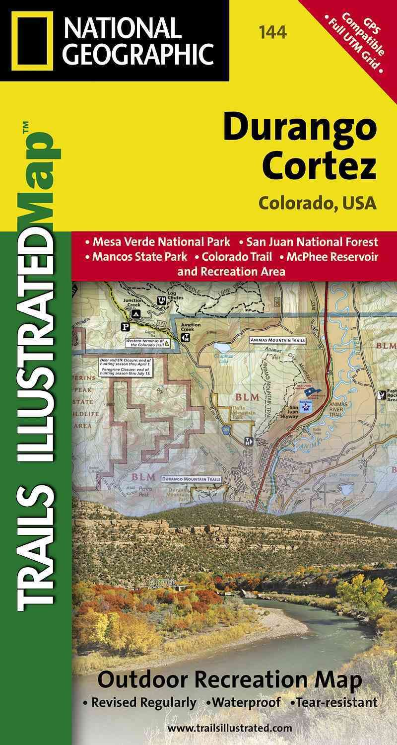 National Geographic Trails Illustrated Map Durango  Cortez - Map of usa where is colorado