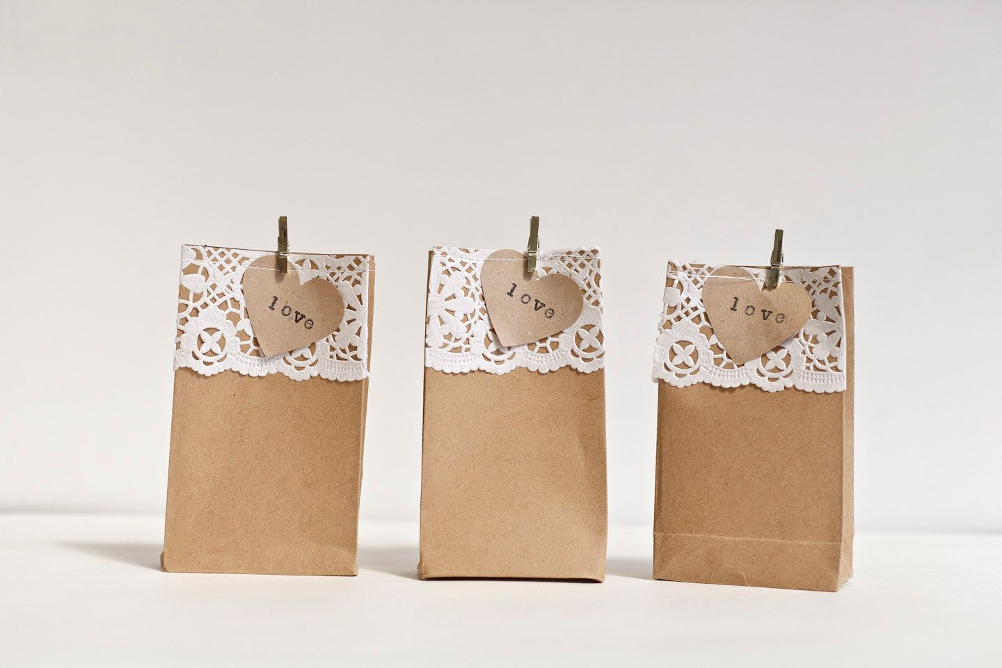Wedding or Party Favour (Favor) Bags - Kraft Paper Gift Bags. £10.00 ...