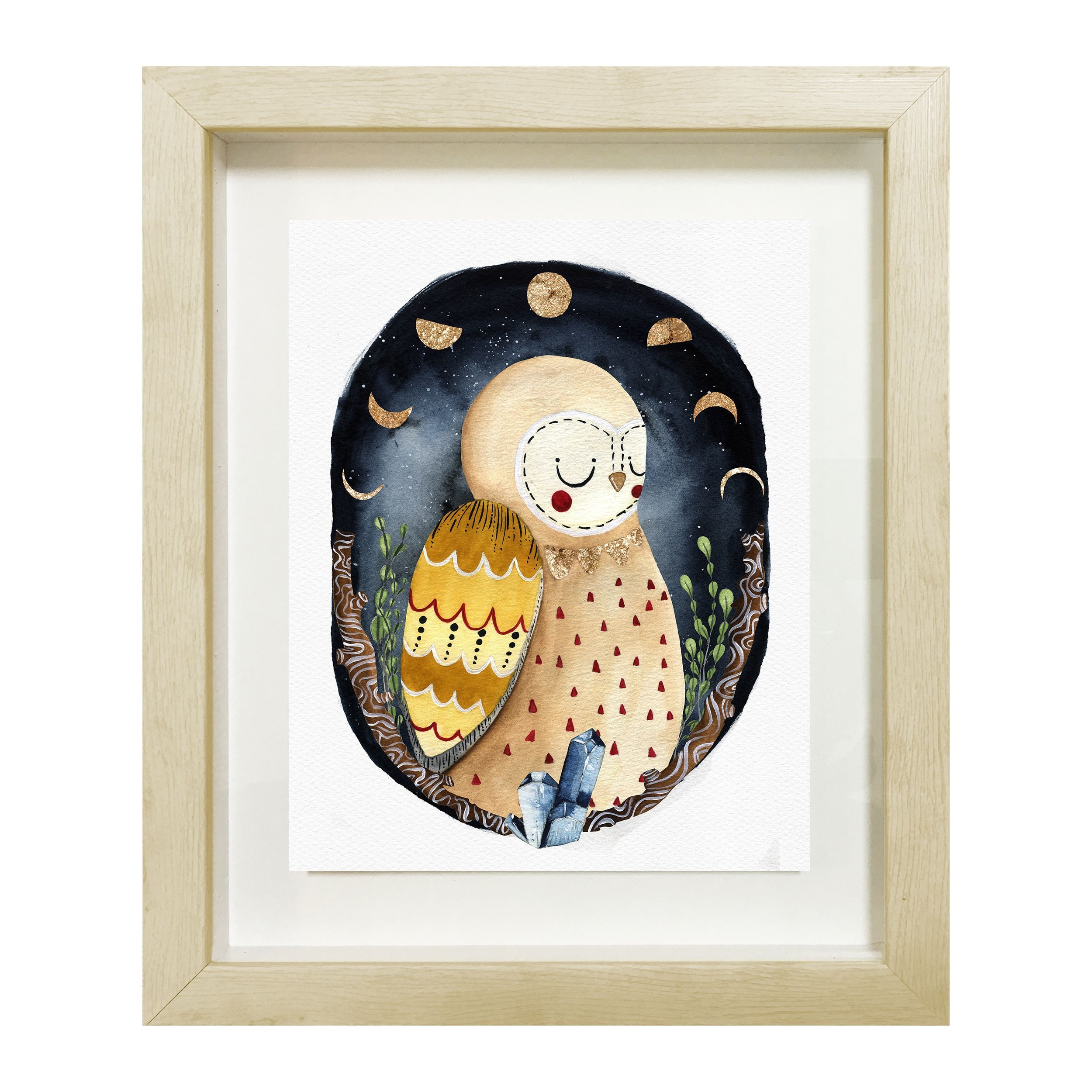 Oliver gal dreaming owlu canvas art owl online art gallery and