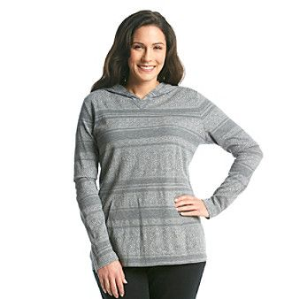 Ruff Hewn Plus Size Kangaroo Pocket Printed Pullover Hoodie