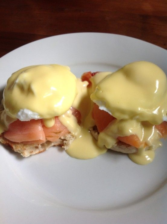 Breakfast... Lox Eggs Benedict - Smoked Salmon Poached Egg & Hollandaise Sauce