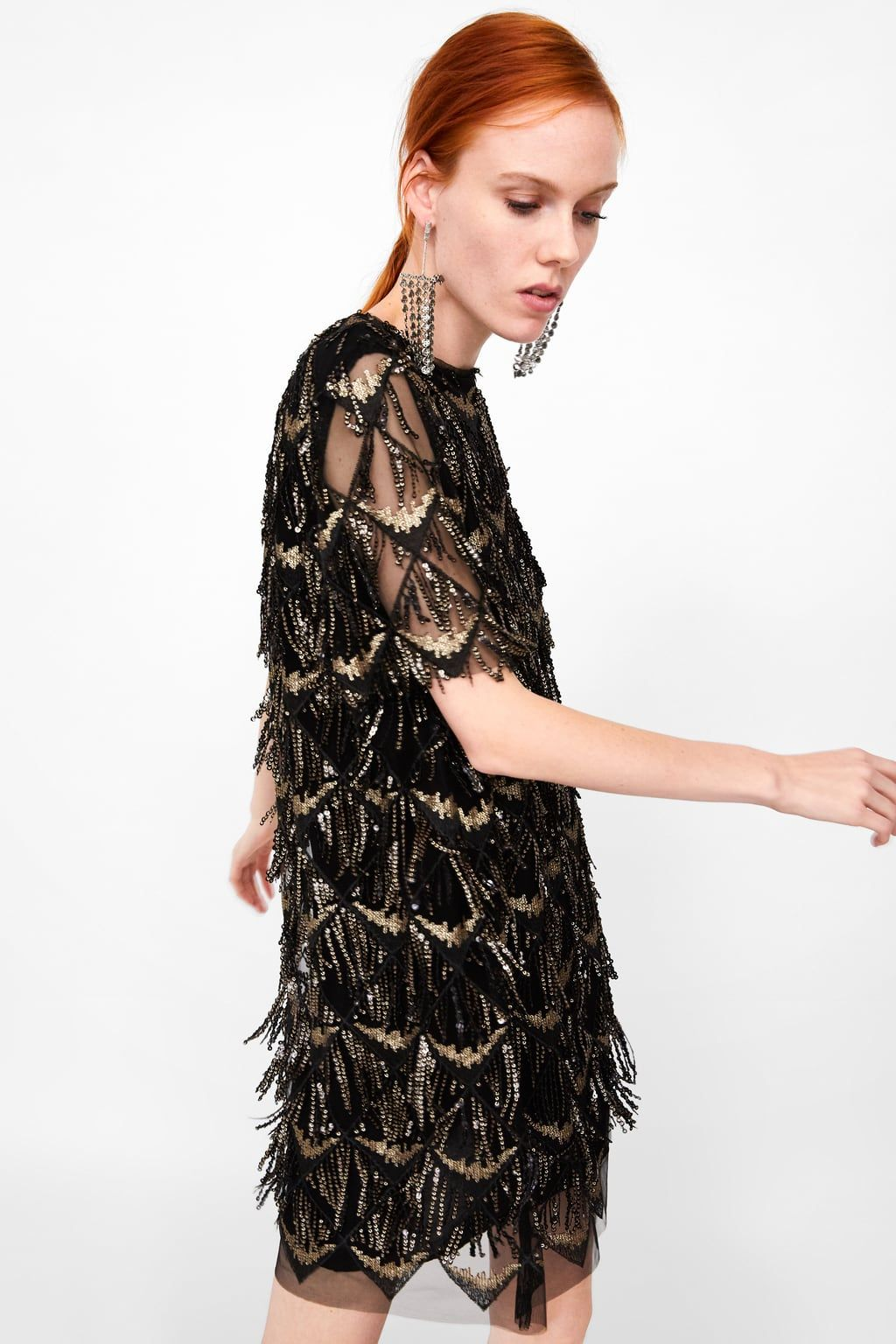 02e88dd1c7 Image 4 of FRINGED SEQUIN DRESS from Zara