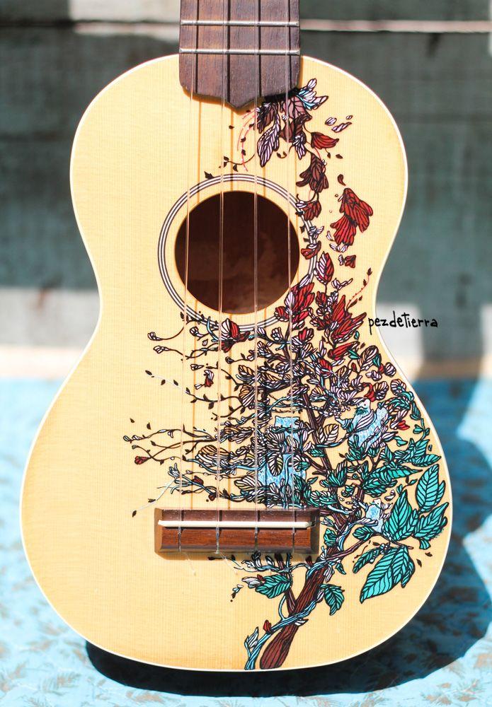 1 Entero Jpg 695 1 000 Pixels Ukulele Design Guitar Painting