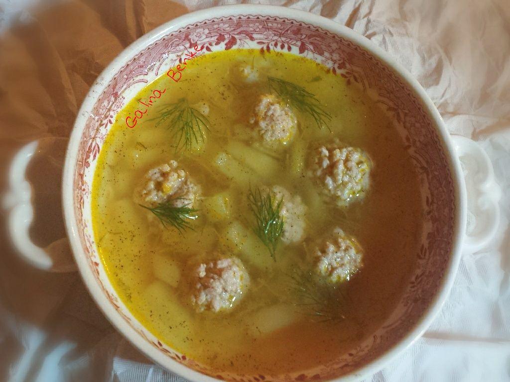 Картофельный суп с фрикадельками и вермишелью | Рецепт (с ...