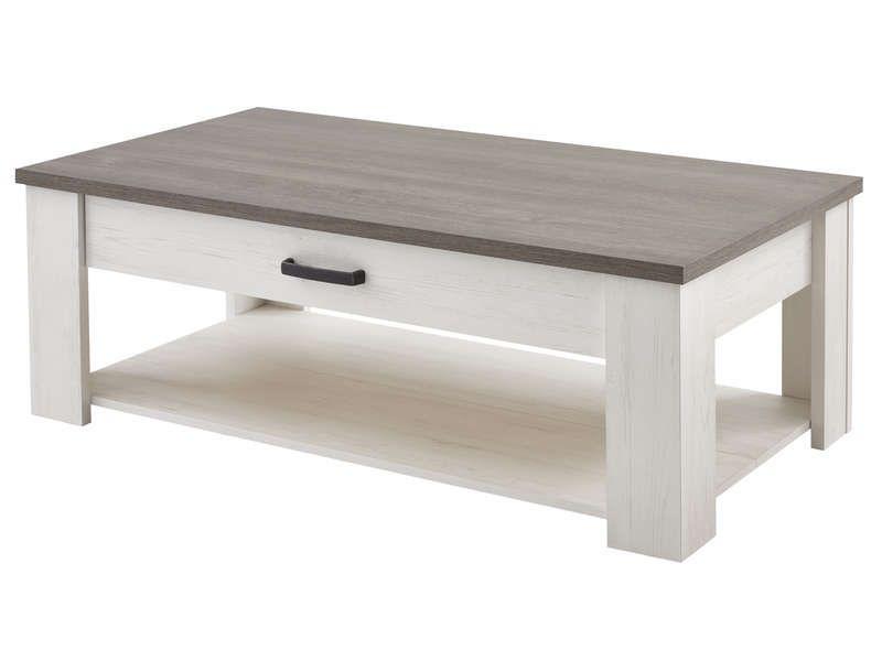 Table Basse Rectangulaire 1 Tiroir Duke Coloris Blanc Pas Cher C 39 Est Sur Conforama Fr Large Ch Table Basse Rectangulaire Table Basse Idee Table Basse