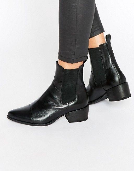 Vagabond Marja Black Western Chelsea Boots at asos.com