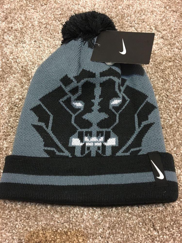 5217a311842 NWT Nike Lebron James Lion Winter Beanie Hat Knit Cap Blue Graphite Pom SZ  8 20  fashion  clothing  shoes  accessories  unisexclothingshoesaccs ...