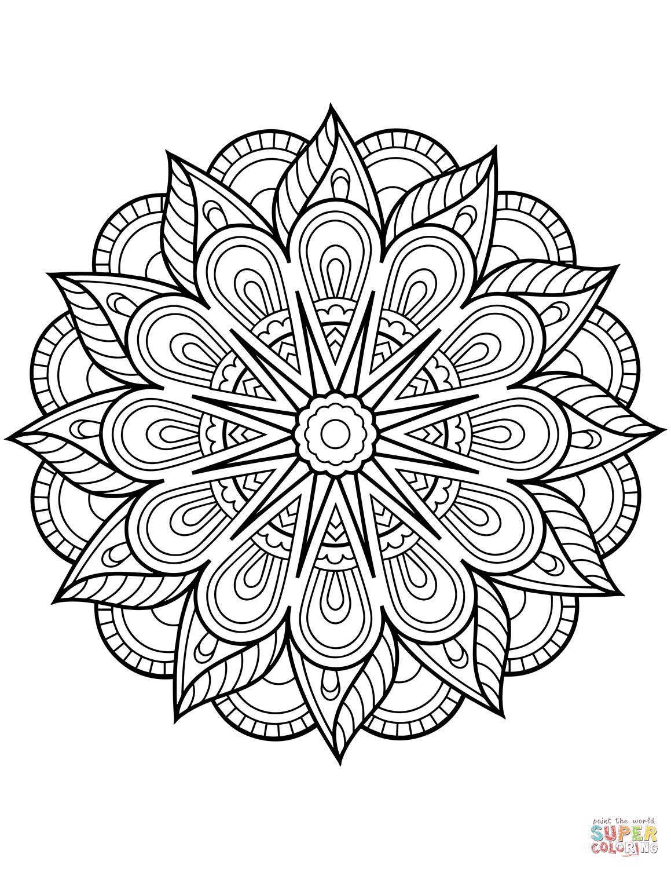 Blomster Mandala Tegninger Mandalategning Maleboger Mandala Mandala Tegning