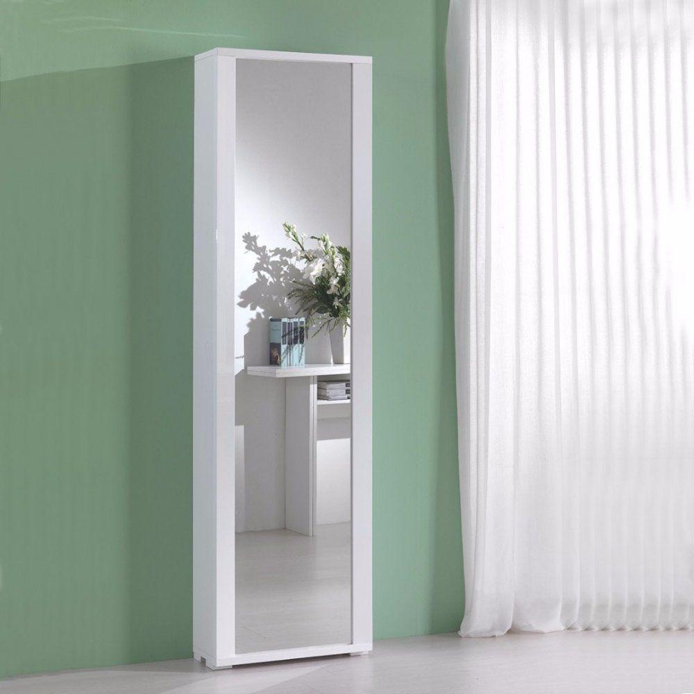 Meuble A Chaussures Millenium Blanc Avec Porte Miroir Meuble Meuble Chaussure Meuble